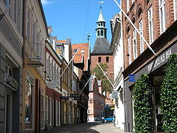 Kattesundet Street and Vor Frue Church