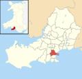 Swansea UK ward location - Mayals.png