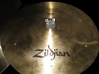 Sizzle cymbal - Swish cymbal with six rivets in the traditional pattern