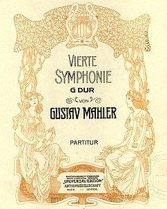 Symphony No.4 by Gustav Mahler, Cover.jpg