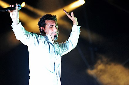 Tankian performing with System of a Down at the 2012 Soundwave Festival in Perth. System Of A Down @ Claremont Showgrounds (5 3 2012) (7005620145).jpg