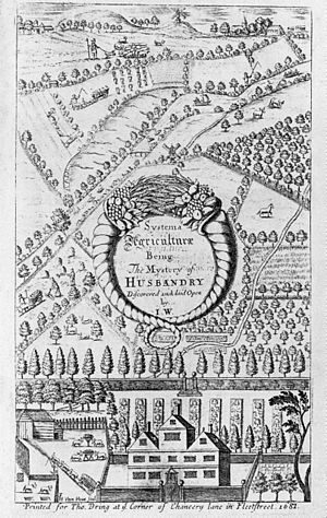 John Worlidge - Systema agriculturae, title plate 1668.