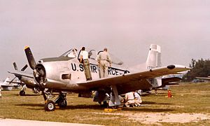 North American T-28 Trojan - A West Virginia Air National Guard T-28A in 1957.