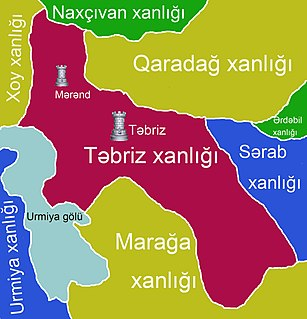 Tabriz Khanate Historic Khanate, located in Iranian Azerbaijan