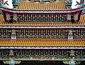 Taipeh Guandu Temple Haupthalle Dach 1.jpg