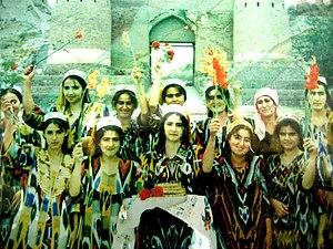 Culture of Tajikistan - Image: Tajik women