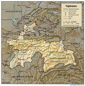 Geography of Tajikistan - Detailed map of Tajikistan