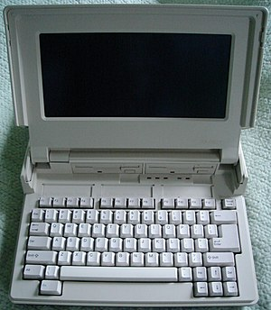 Tandy Corporation - A Tandy laptop computer, the 1400LT