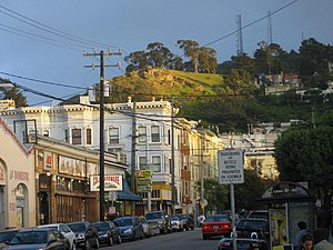 Cole Valley, San Francisco - Cole Valley from below
