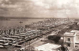 Taranto - Taranto naval base for the Italian Regia Marina's First Squadron. (Photo from 1930s)