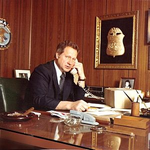 Ted Gunderson - Ted Gunderson in his FBI office