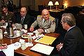 Tedo Japaridze, David Tevzadze, Donald Rumsfeld, Archil Tsintsadze (March 16, 2001).jpg
