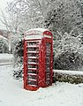 Telephone box at East Dean, East Sussex - geograph.org.uk - 767805.jpg