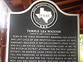 Temple Houston historical marker IMG 0637.JPG