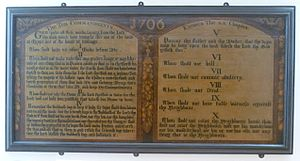Kirk - Ten Commandments panel from a Scottish kirk (1706)