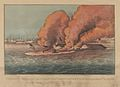 "Terrific Combat Between the ""Monitor"" 2 Guns & ""Merrimac"" 11 Guns – In Hampton Roads March 9th, 1862 – In which the little ""Monitor"" whipped the ""Merrimac"" and the whole ""School"" of Rebel Steamers MET DP853580.jpg"