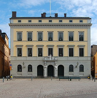 Over-Governor of Stockholm - The Tessin Palace at Slottsbacken is currently the residence of the Governor of Stockholm County. Prior to 1968, it was the residence of the Over-Governor.
