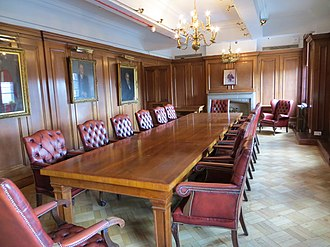 Board of directors - The board room of Tetley's Brewery in Leeds, England.