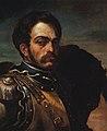 Théodore Géricault - A Carabinier with his Horse - WGA08623.jpg