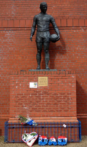 1971 Ibrox disaster - A memorial to those who died in the disaster, including a statue of then-captain John Greig, unveiled in January 2001