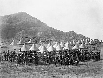 British Expedition to Abyssinia - The Baloch Regiment in camp