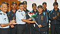 The Air Officer-in-Charge Administration, Air Marshal J.N. Burma flagging off the IAF Mountaineering Expedition to Virgin Peaks in Ladakh Region, in New Delhi on June 20, 2012.jpg