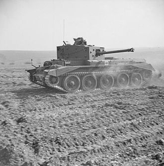 Rolls-Royce Meteor - Cromwell tank showing its speed during official inspection