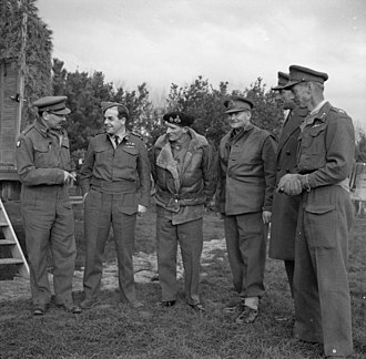 Charles Walter Allfrey - From left to right: Major General de Guingand, Air Vice-Marshal Broadhurst, General Montgomery, Lieutenant General Freyberg, Lieutenant Generals Allfrey and Dempsey, Italy, December 1943.