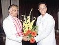 The Chief Minister of Assam Shri Tarun Gogoi calls on the Union Home Minister Shri Shivraj Patil in New Delhi on June 4, 2004.jpg