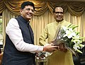 The Chief Minister of Madhya Pradesh, Shri Shivraj Singh Chouhan meeting the Minister of State (Independent Charge) for Power, Coal and New and Renewable Energy, Shri Piyush Goyal, in New Delhi on October 15, 2015.jpg