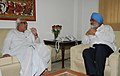 The Chief Minister of West Bengal, Shri Buddhadeb Bhattacharya meeting the Deputy Chairman, Planning Commission, Shri Montek Singh Ahluwalia to finalize Annual Plan 2010-11 of the State, in New Delhi on April 08, 2010.jpg