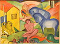 The Dream by Franz Marc, 1912 AD, oil on canvas - Museo Nacional Centro de Arte Reina Sofía - DSC08760.JPG