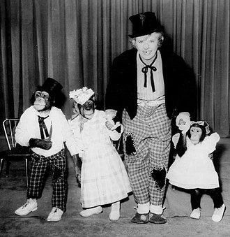 The Hathaways - From left, Charlie, Enoch, Peggy Cass as Elinore Hathaway, and Candy, 1962