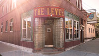 The Levee bar is a popular drinking establishment located near the Healy Metra stop in Hermosa, Chicago, IL.