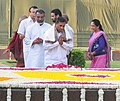 The Minister of State (Independent Charge) for Micro, Small & Medium Enterprises, Shri K.H. Muniyappa paying floral tributes at the Samadhi of Babu Jagjivan Ram on his 106th Birth Anniversary, at Samta Sthal, in Delhi.jpg