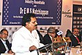 The Minister of State for Commerce and Industry, Dr. E.M.S. Natchiappan speaking at the Industry Roundtable, organised by the Confederation of Indian Industry (CII), in Kolkata on December 26, 2013.jpg