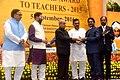 The President, Shri Pranab Mukherjee presenting the National Award for Teachers-2015 to Shri. S. Narasimha Murthy (Andhra Pradesh), on the occasion of the 'Teachers Day', in New Delhi.jpg