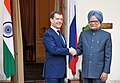 The Prime Minister, Dr. Manmohan Singh meeting the President of the Russian Federation, Mr. Dmitry A. Medvedev, in New Delhi on December 21, 2010 (2).jpg