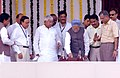 The Prime Minister, Dr. Manmohan Singh switching the button to lay the foundation stone of Western Dedicated Freight Corridor, in Mumbai, Maharashtra on October 05, 2006.jpg