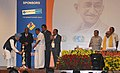 The Prime Minister, Dr Manmohan Singh lighting the traditional lamp to inaugurate the 7th Pravasi Bharatiya Divas, at Chennai on January 08, 2009.jpg
