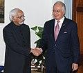 The Prime Minister of Malaysia, Dato' Sri Mohd Najib Tun Abdul Razak meeting the Vice President, Shri Mohd. Hamid Ansari, in New Delhi on January 20, 2010.jpg
