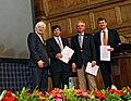 "The SAURON team receiving the Royal Astronomical Society ""A"" Group Award (9232279242).jpg"
