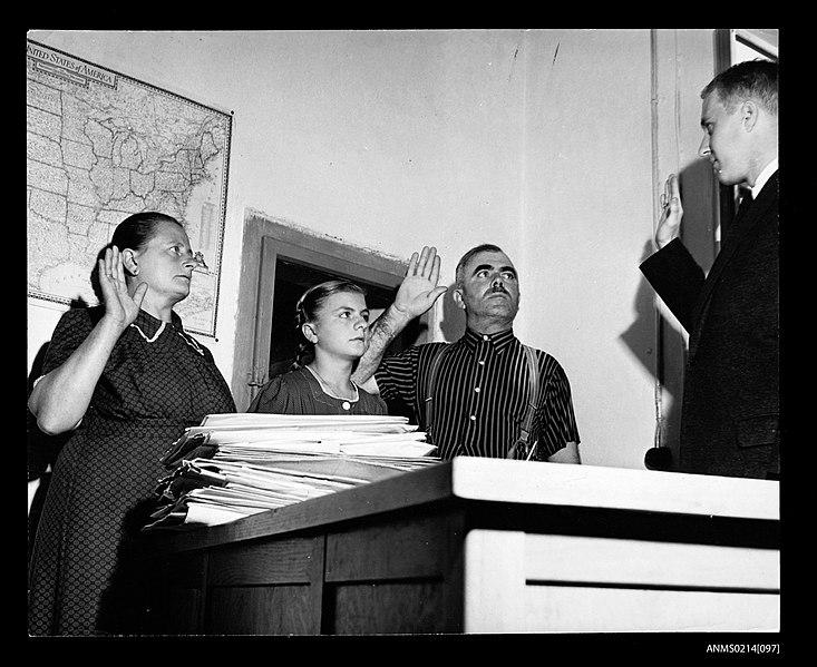 File:The Schimpf family take the oath for a US visa, Salzburg (8411912099).jpg