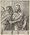 The Tribute Money- two Pharisees, one holding out a coin in his right hand, approach Christ from the left MET DP832653.jpg