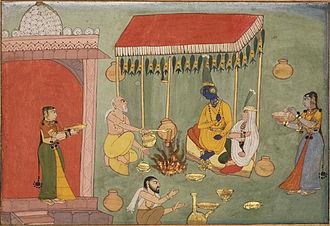 Satyabhama - The Wedding of Satyabhama and Krishna from Bhagavata Purana