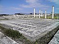 The big antechamber paved with white and black pebbles forming lozenges from the House of Dionysos, built in 325-300 BC, Ancient Pella (7060154877).jpg