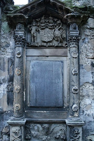 George Gordon, 15th Earl of Sutherland - The grave of George, 15th Earl of Sutherland, Holyrood Abbey
