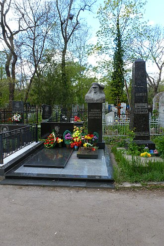 Black Sea Shipping Company - The tombstones of Stanislav Lukiyanchenko (center) on the Second Christian Cemetery in Odessa.