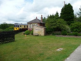 This way to the trains, Warcop Station (geograph 5011889).jpg