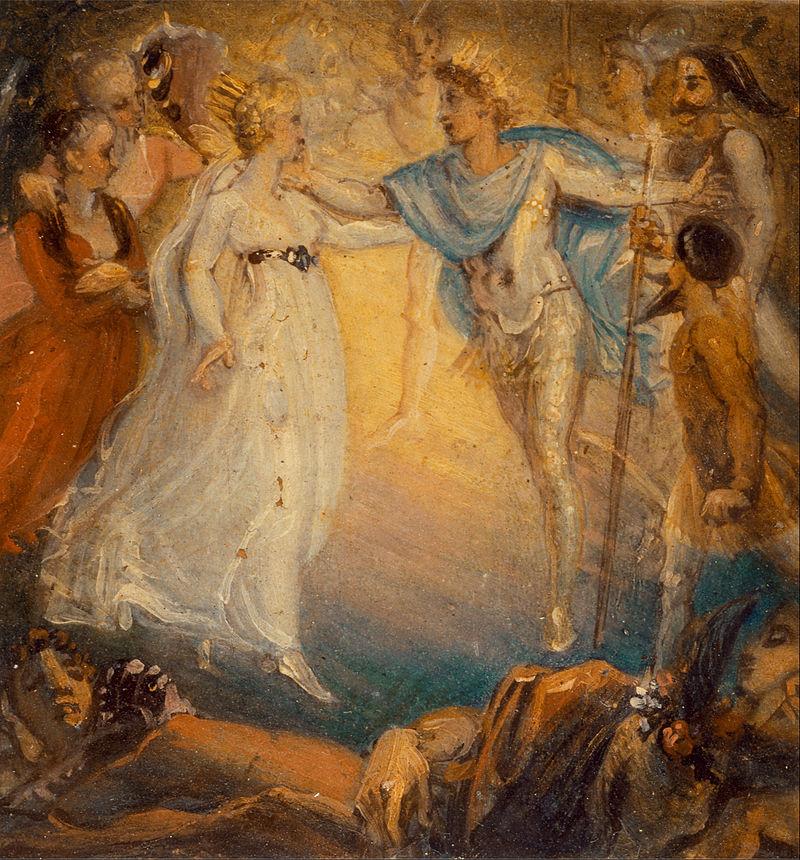 Thomas Stothard - Oberon and Titania from %22A Midsummer Night%27s Dream,%22 Act IV, Scene i - Google Art Project.jpg